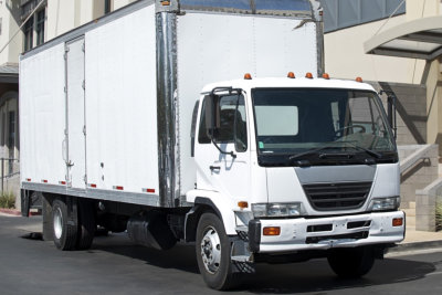 large white truck